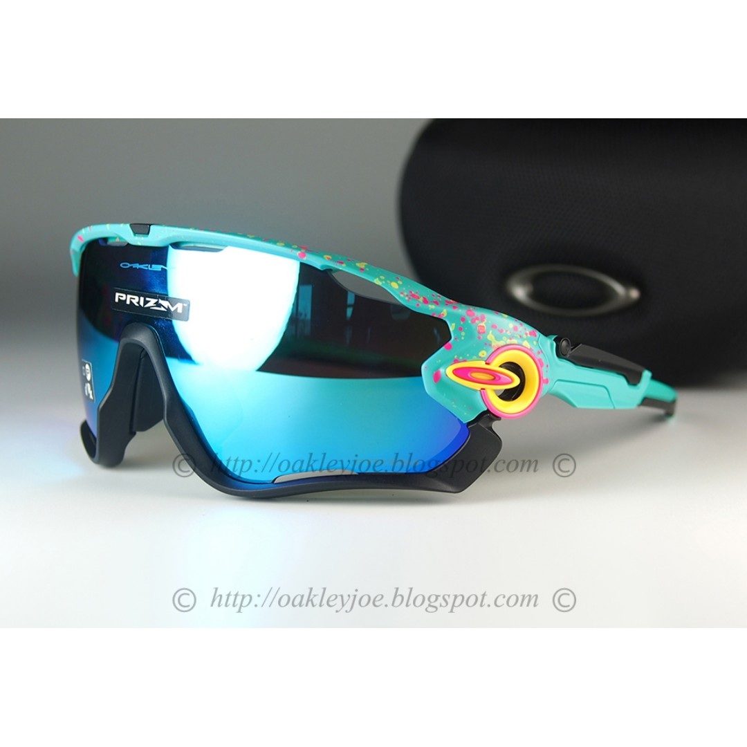 5de0dcb01eb BNIB Oakley Jawbreaker splatterfade celeste + prizm sapphire OO9290 ...