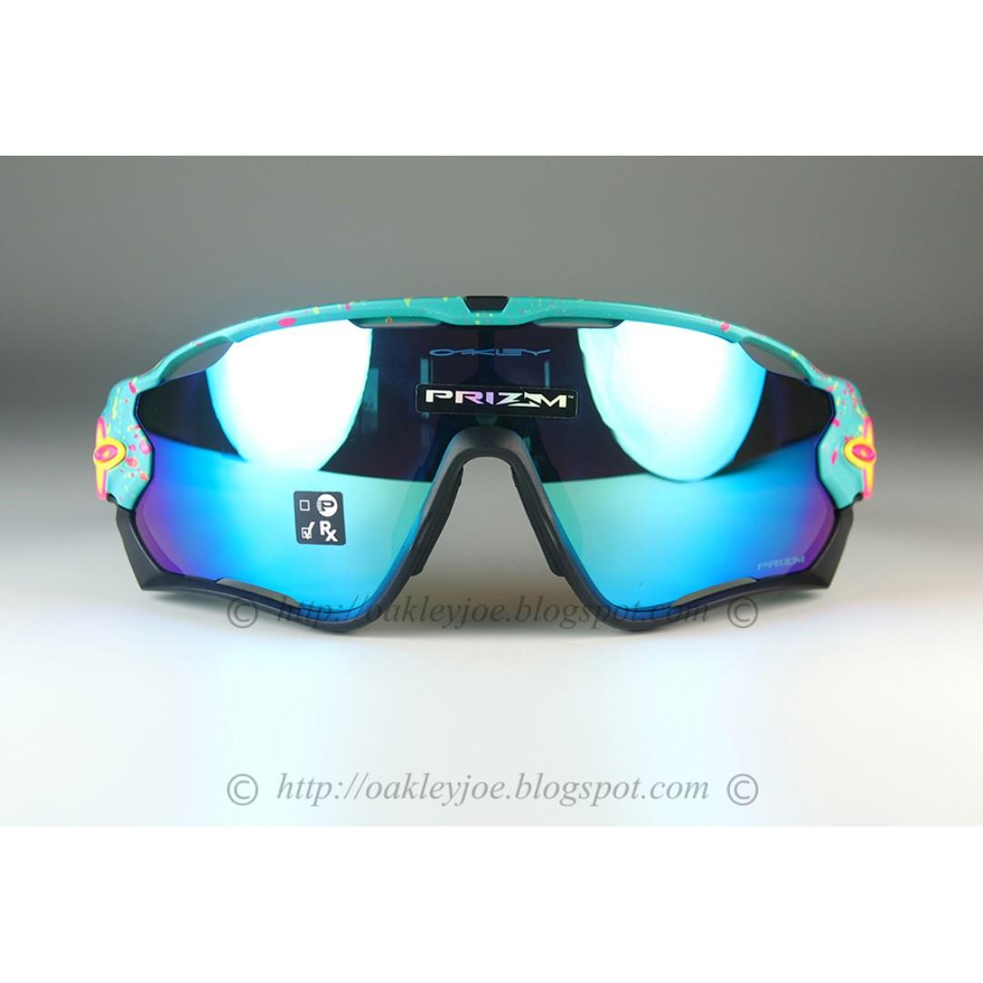 5505af26ad9 BNIB Oakley Jawbreaker splatterfade celeste + prizm sapphire OO9290-4131  sunglass shades