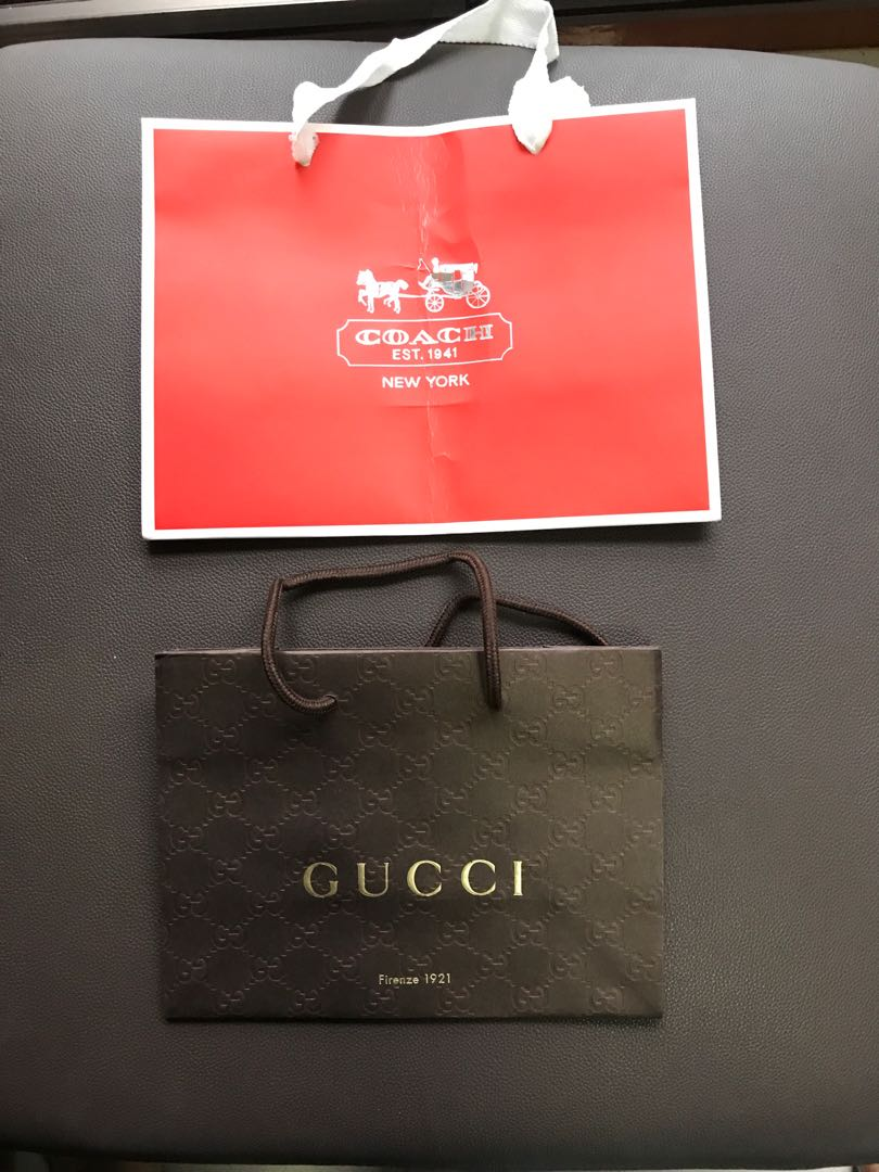 14d451d5095 Bundle sale! Coach and Gucci Paperbag
