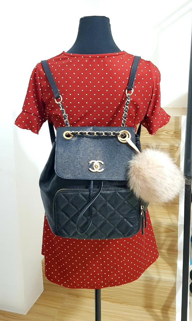 Chanel Backpack Caviar Leather 2ed8484c96128