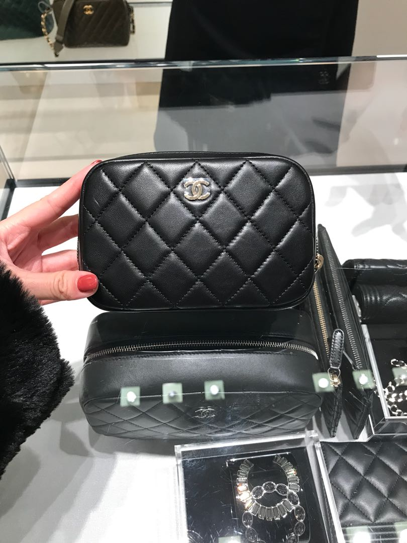 7ca6f5ca51e8 Chanel o case chanel vanity pouch, Luxury, Bags & Wallets, Clutches ...