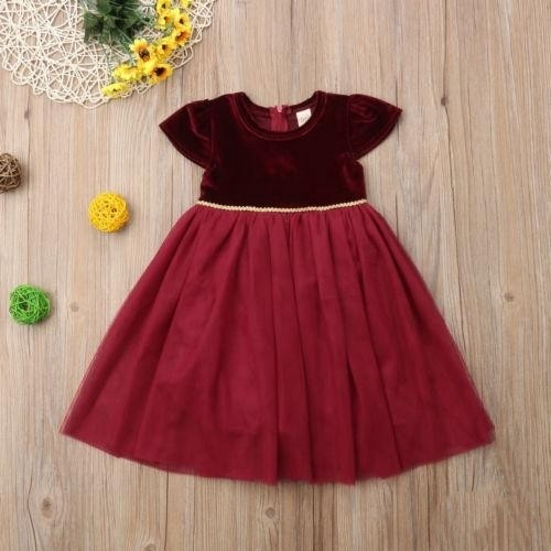 adc60f2b2 Christmas Xmas Collection* red baby girl long gown formal party ...