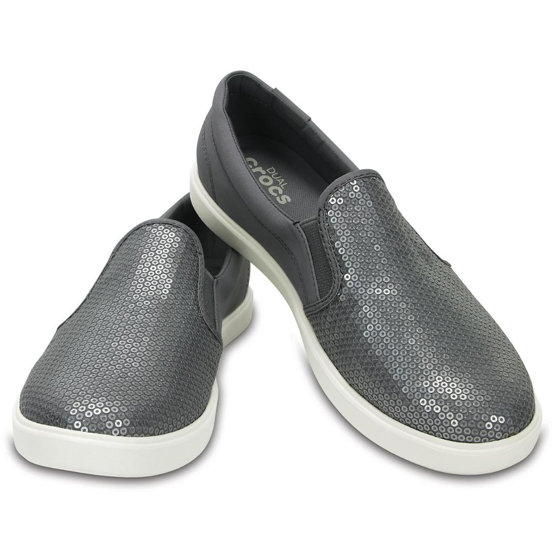 c447e3e28222 Crocs Women s CitiLane Sequin Slip-On (Size W5)