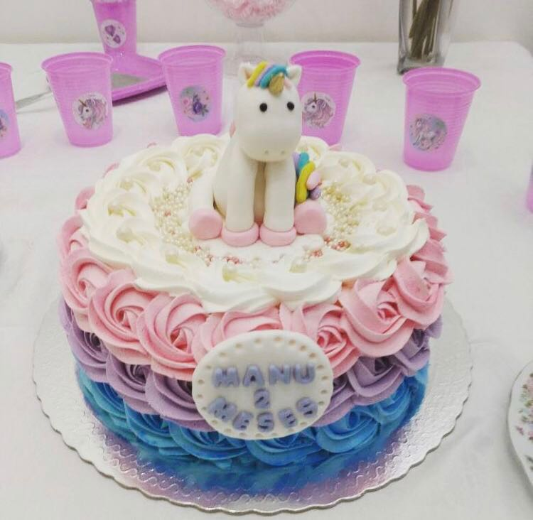Customised Unicorn Ice Cream Birthday Cake 7 Food Drinks Baked