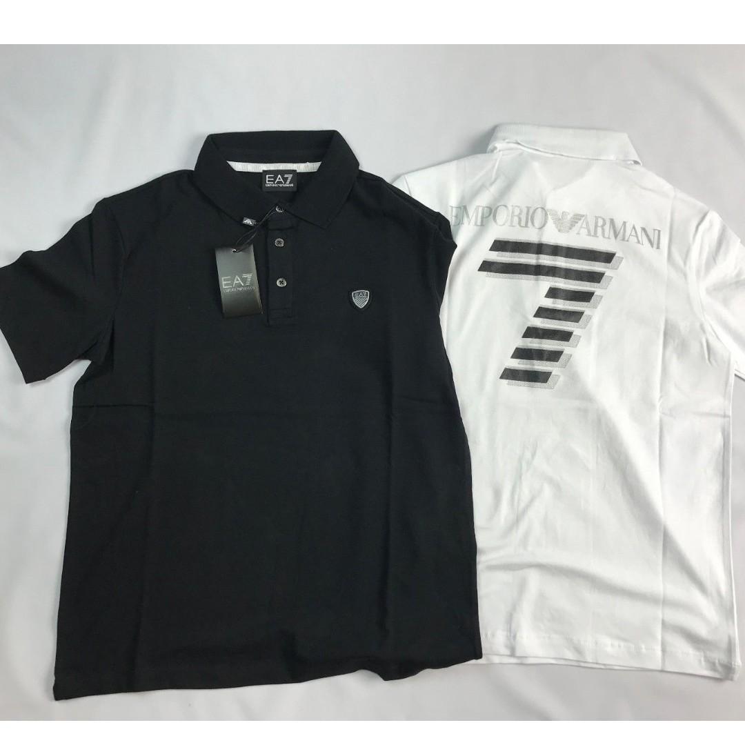 Emporio Armani EA7 Big Logo Short Sleeve Men's Polo Shirt