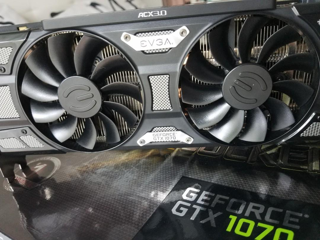 EVGA GeForce GTX 1070 SC GAMING ACX 3 0 Black Edition, 8GB