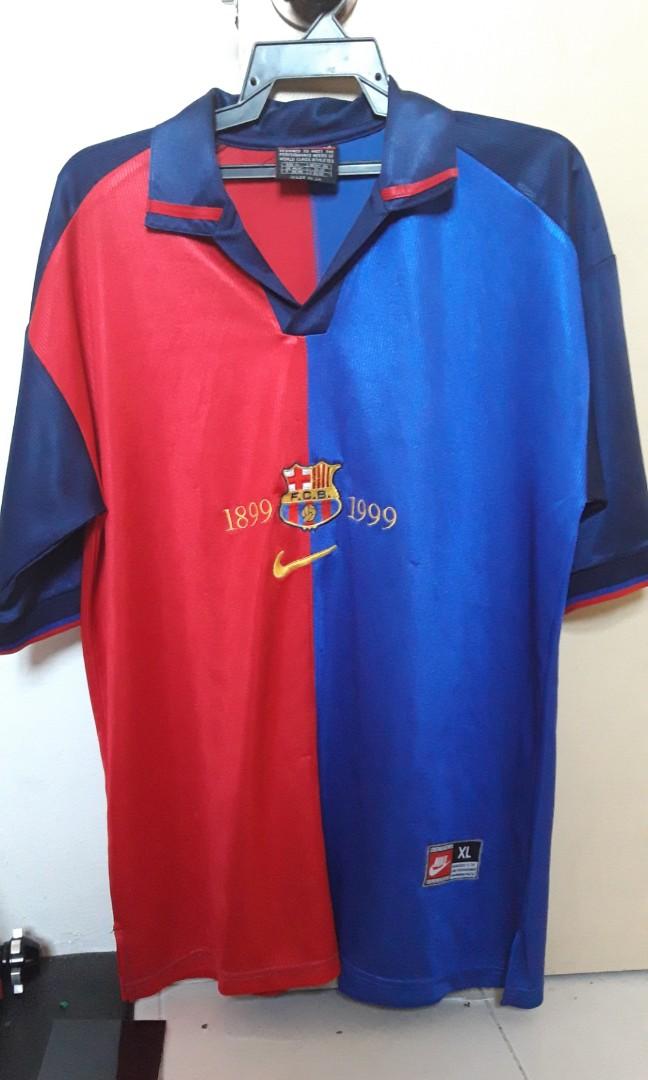 best loved 7eb6e c421d FC Barcelona vintage jersey 1999 Centennial