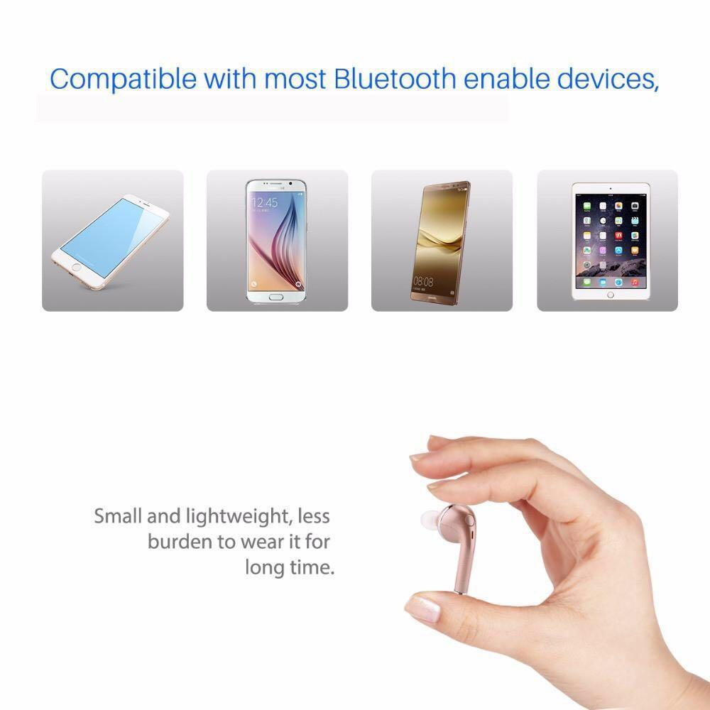 Fornorm Mini Wireless 4.1 HD Earbuds for iPhone and Samsung Smartphones