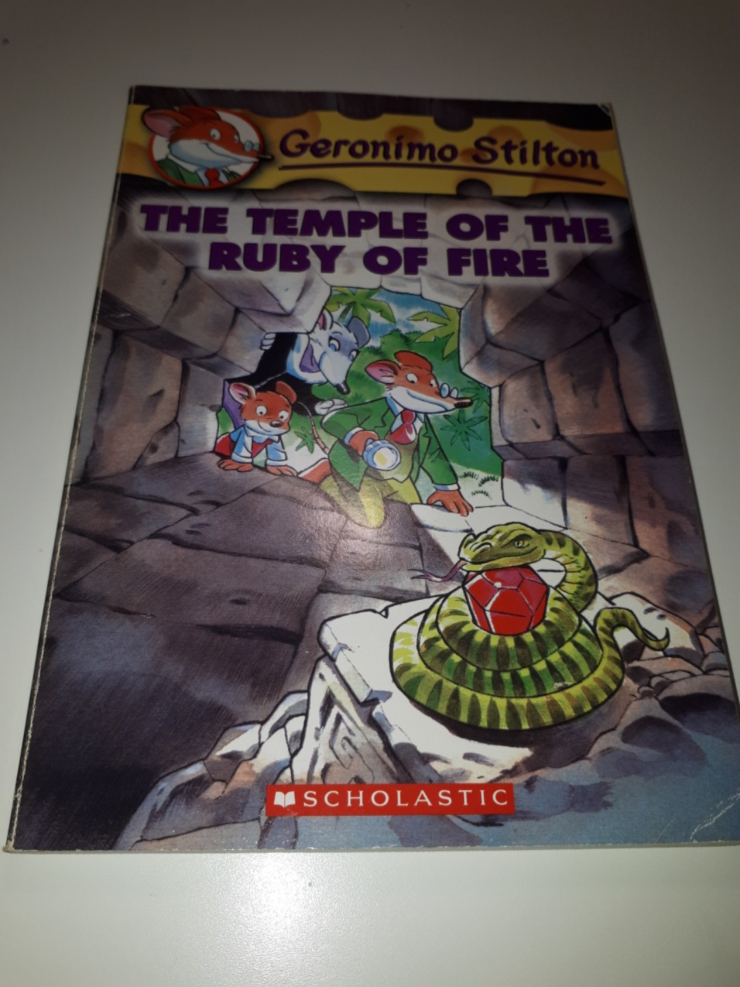 Geronimo Stilton: The Temple of The Ruby of Fire, Books & Stationery,  Children's Books on Carousell