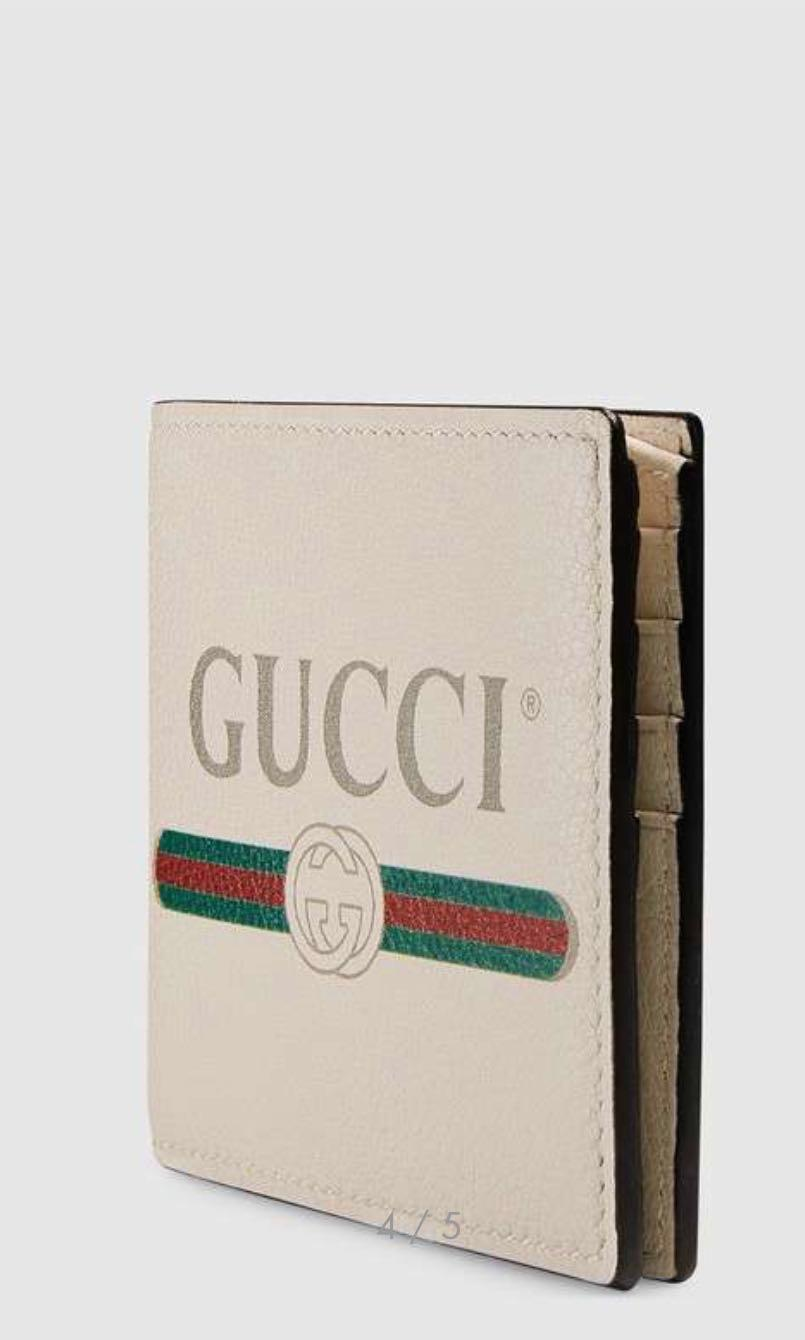 Gucci Print Leather print bi fold Wallet