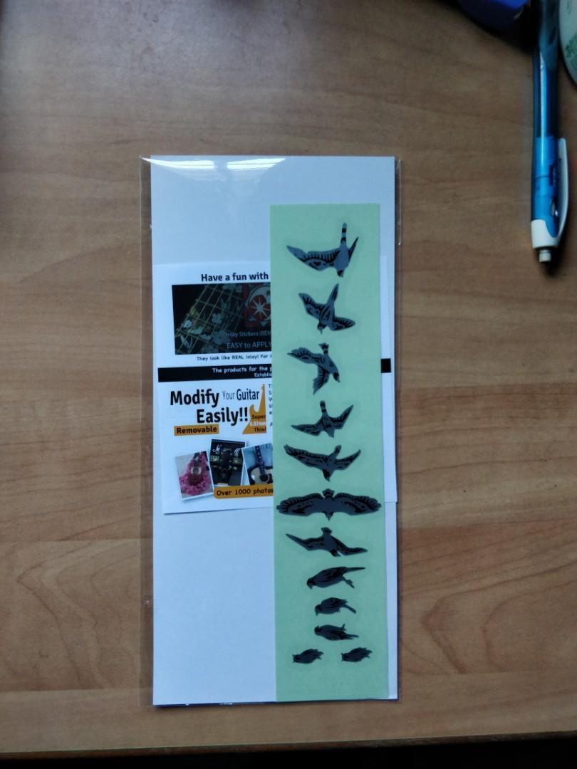 Guitar fret inlay stickers bird