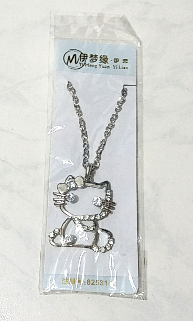 6d82cda1c Hello Kitty Pendant and Necklace, Women's Fashion, Jewellery ...