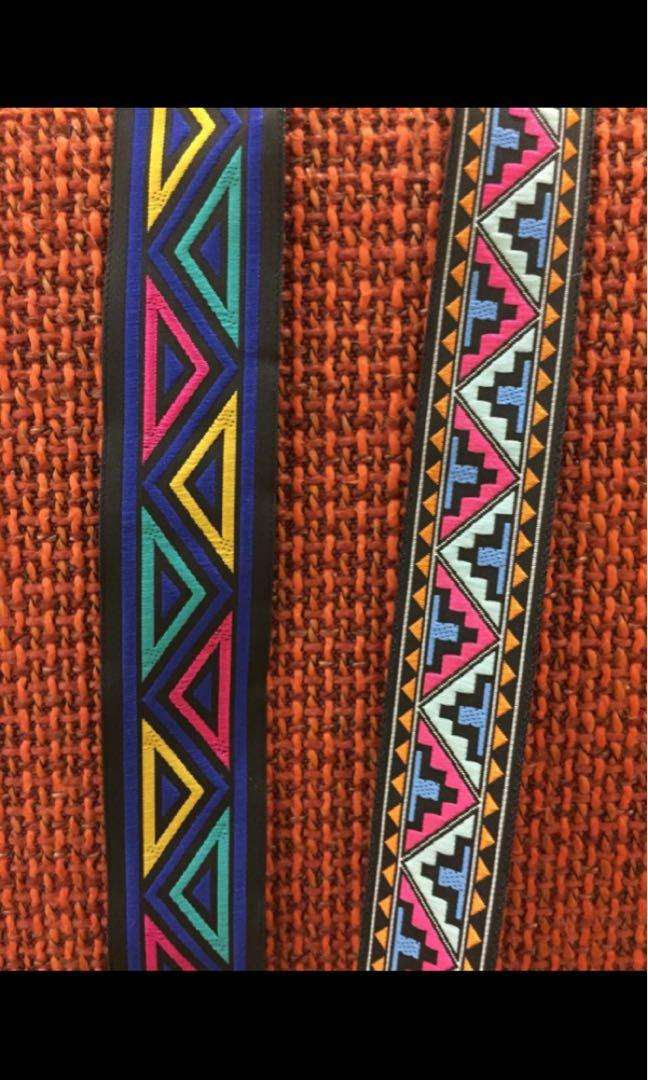 Hippiiie chica hairband sport or party tribe pattern