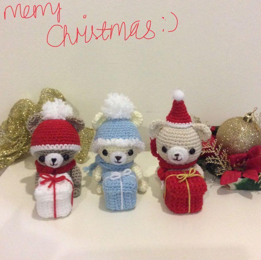 Ideal Christmas Gifts Crochet Xmas Bears Design Craft