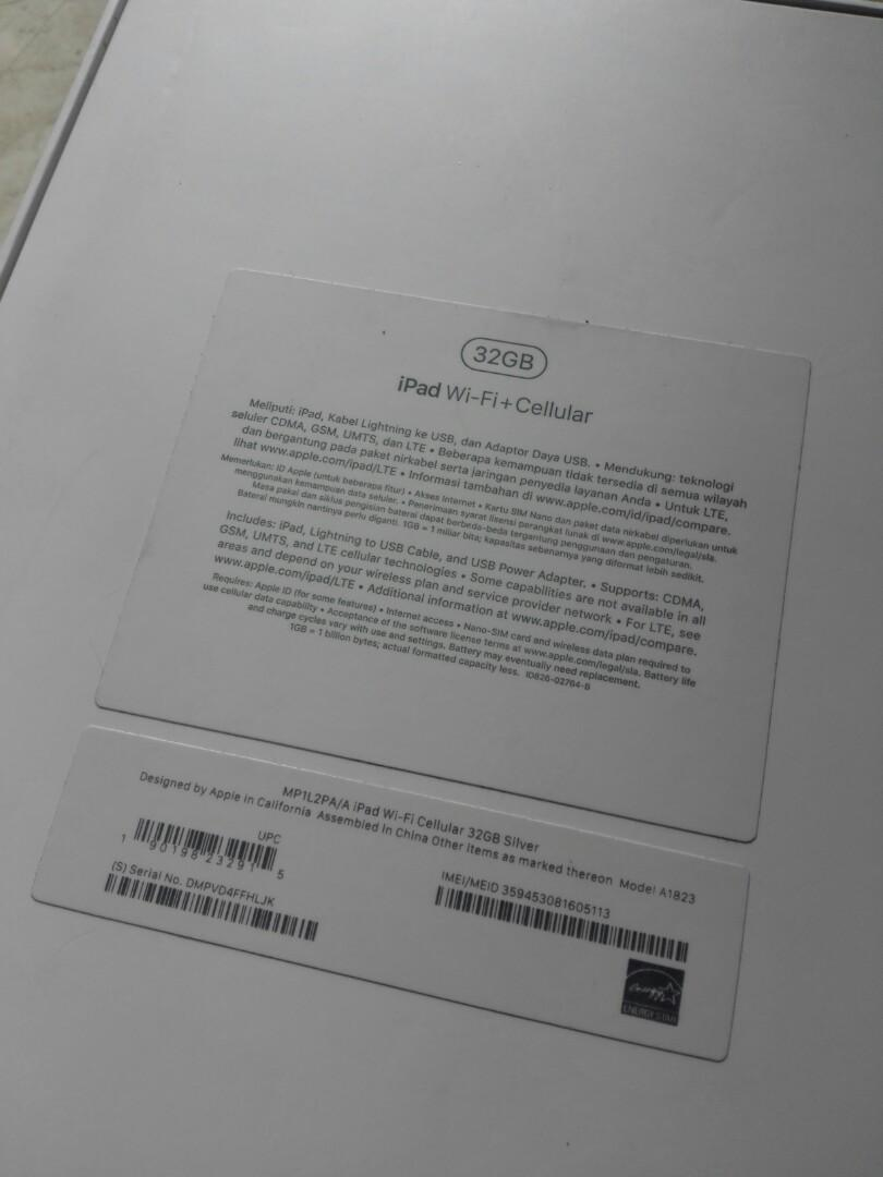 Ipad 2017 Wifi+Celular 5th gen