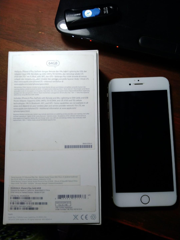 Iphone 6 Plus 64GB Gold Ex Garansi Resmi Trikomsel e54c6dde07