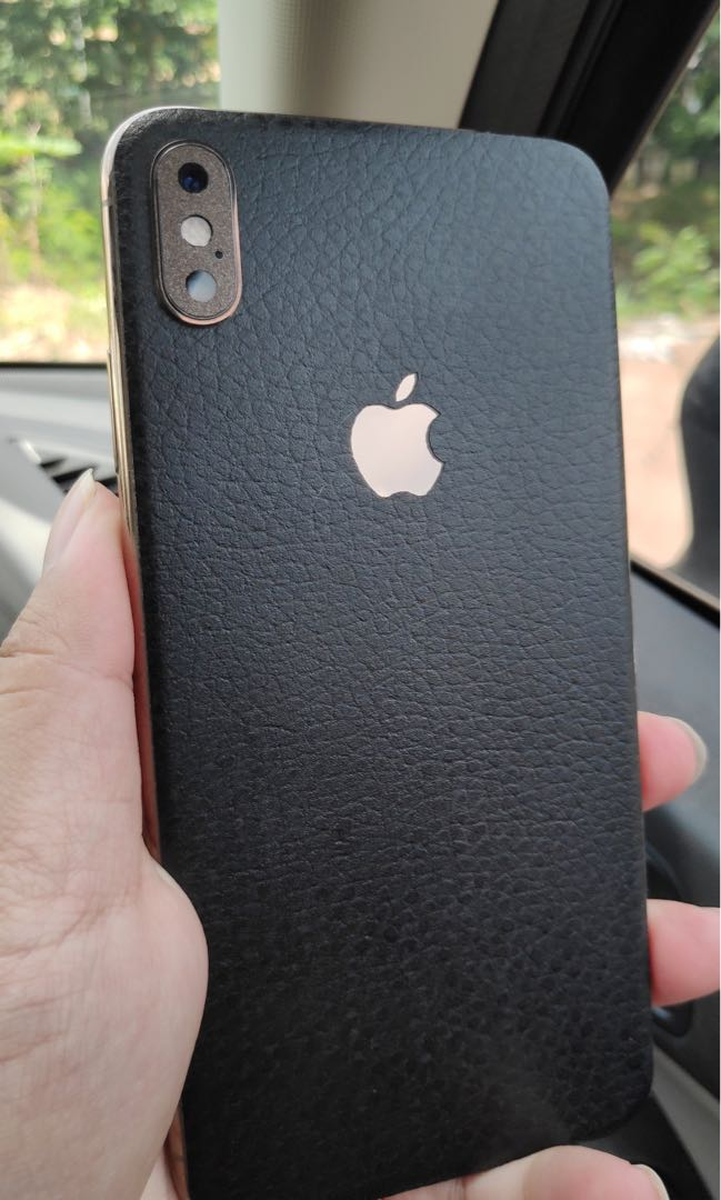 buy popular fa14f cc06d Iphone xs and max classic black leather skin