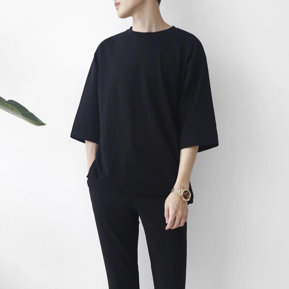 Korean Designed Men Oversized Loose Plain Tee Men S Fashion