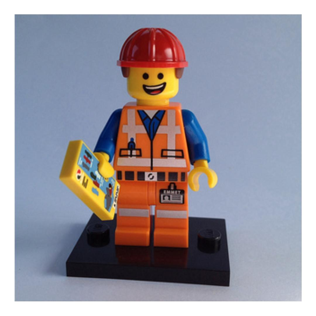 LEGO MINIFIGURE HARD HAT EMMET THE LEGO MOVIE 71004 SERIES 1