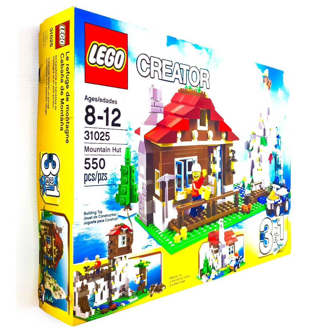 Lego Creator Mountain Hut 3 In 1 31025 Rare Retired 2014 New