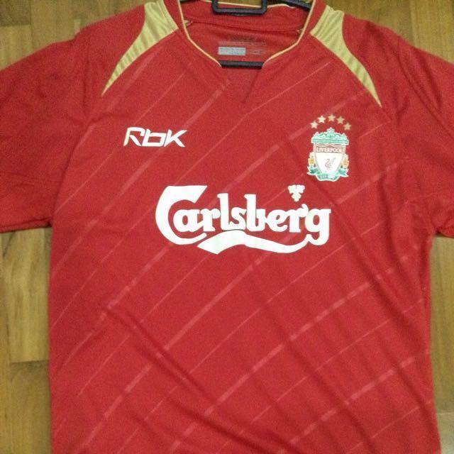 online store d7c0a cea32 Liverpool Vintage 2006 Reebok Carlsberg Shirt 5 Stars ...