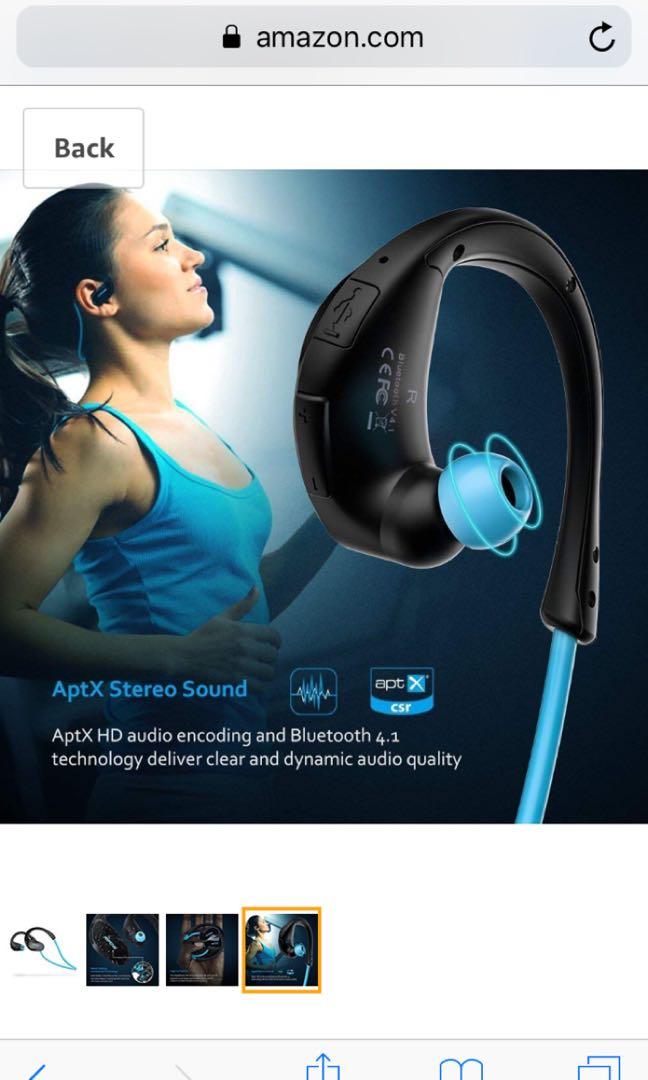 2b72a923b98 Mpow Cheetah Bluetooth Headphones, V4.1 Wireless Sport Headphones ...