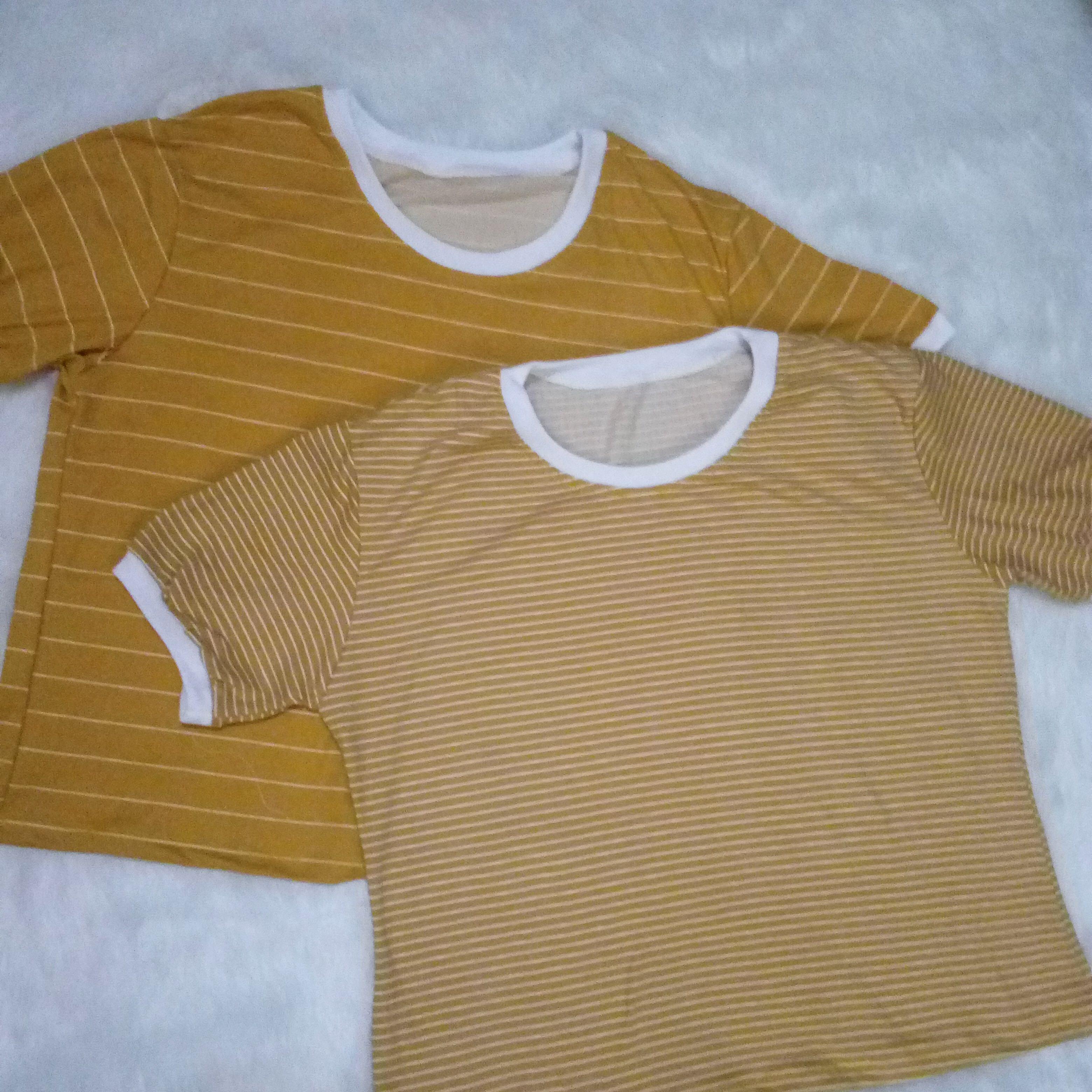 524b6cd33e Mustard Yellow striped shirt, Women's Fashion, Clothes, Tops on ...