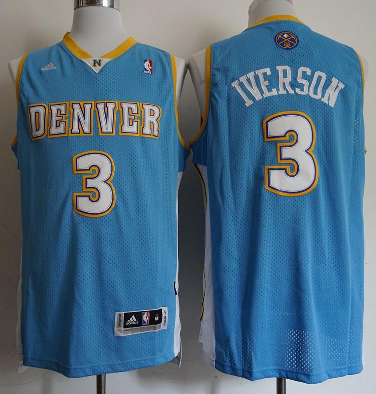 8abca81e0 NBA Denver Nuggets Allen Iverson Swingman Jersey