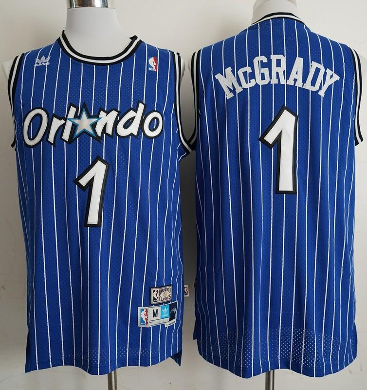promo code 8e469 de9ad NBA Orlando Magic Tracy McGrady Blue Vintage Swingman Jersey ...