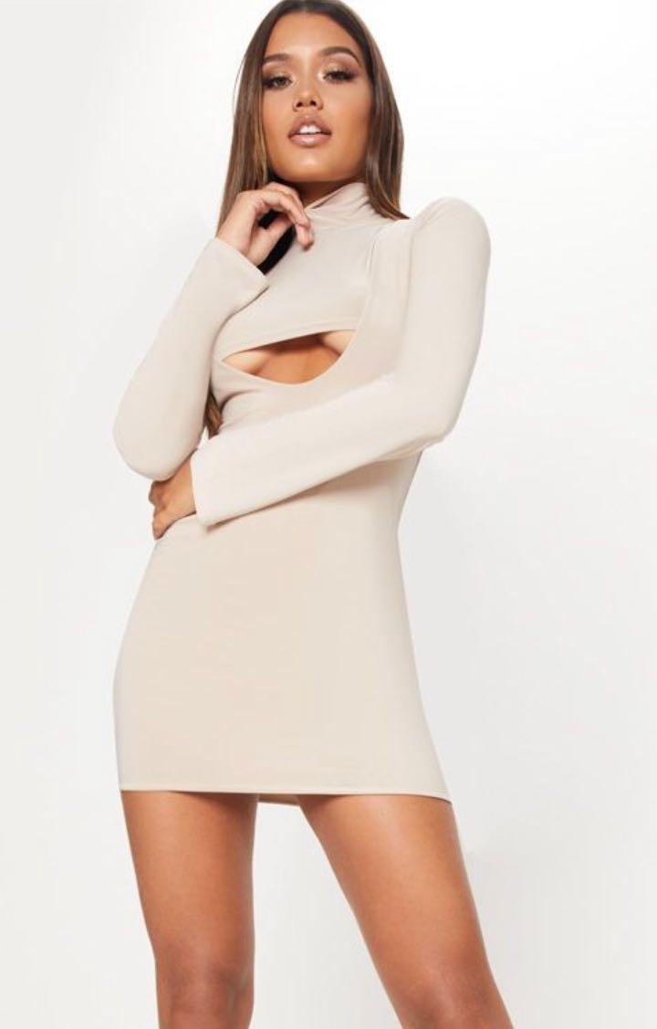 38d388ee4 PLT Beige Slinky Dress, Women's Fashion, Clothes, Dresses & Skirts ...