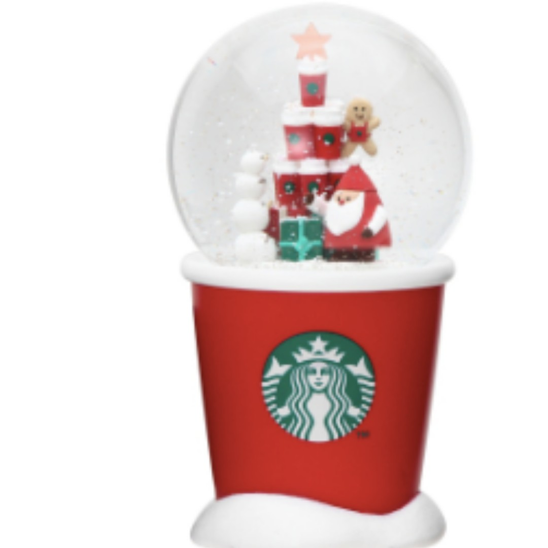 PO] Japan Starbucks Christmas 2018 - Snow Dome Red Cup, Toys & Games ...