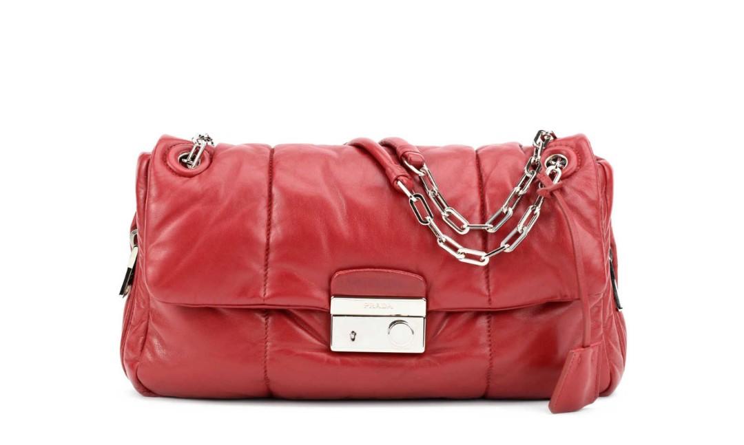 5f8c399fac18 Prada Nappa Bomber Cherry Shoulder Bag, Luxury, Bags & Wallets ...