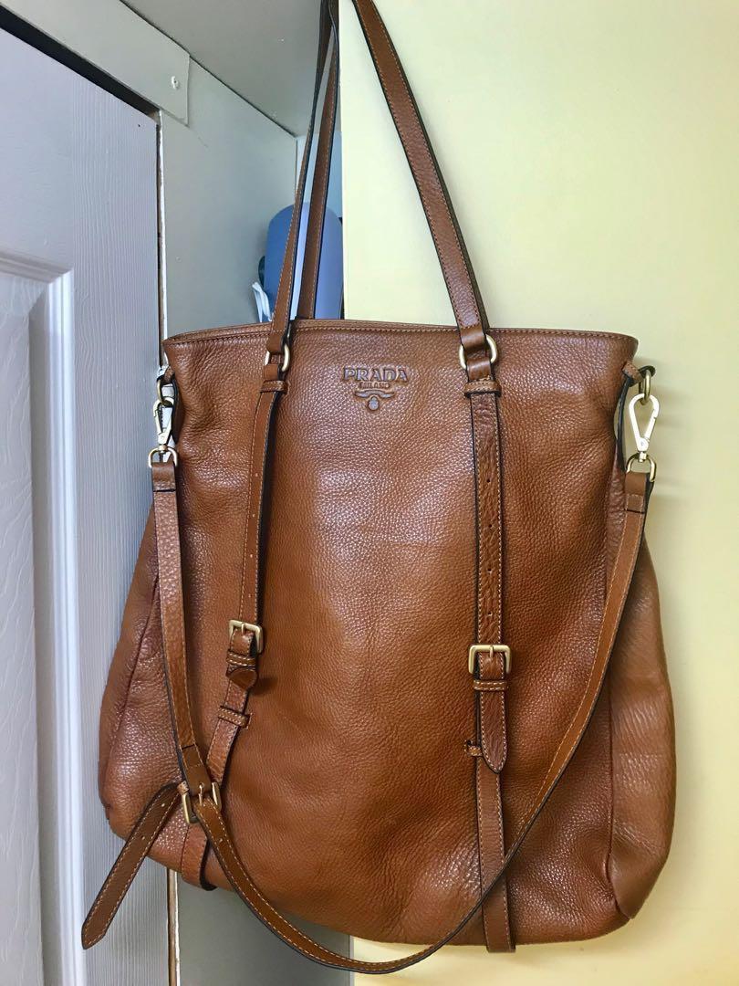 Prada vintage leather large size bag, not authentic