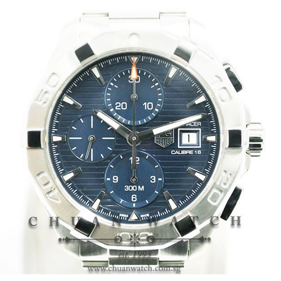 5be6caf6df1 Pre-Owned Tag Heuer Aquaracer Chronograph 300M Calibre 16 43mm ...