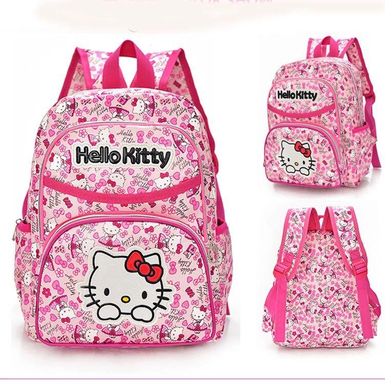 bac4108338 Ready Stock  Hello Kitty Backpack  School Bag  Hello Kitty Bag ...