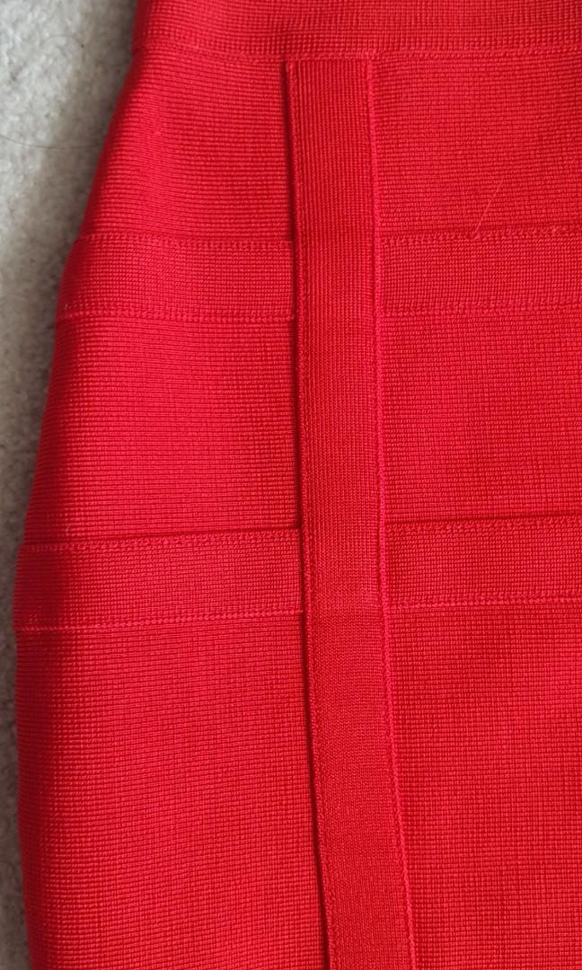 RED BANDAGE SKIRT - BRAND NEW