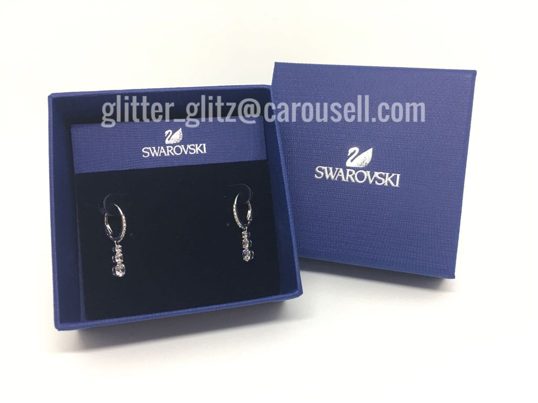 5bed442af S$50 off!!! New Genuine Swarovski Attract Trilogy Round Earrings ...