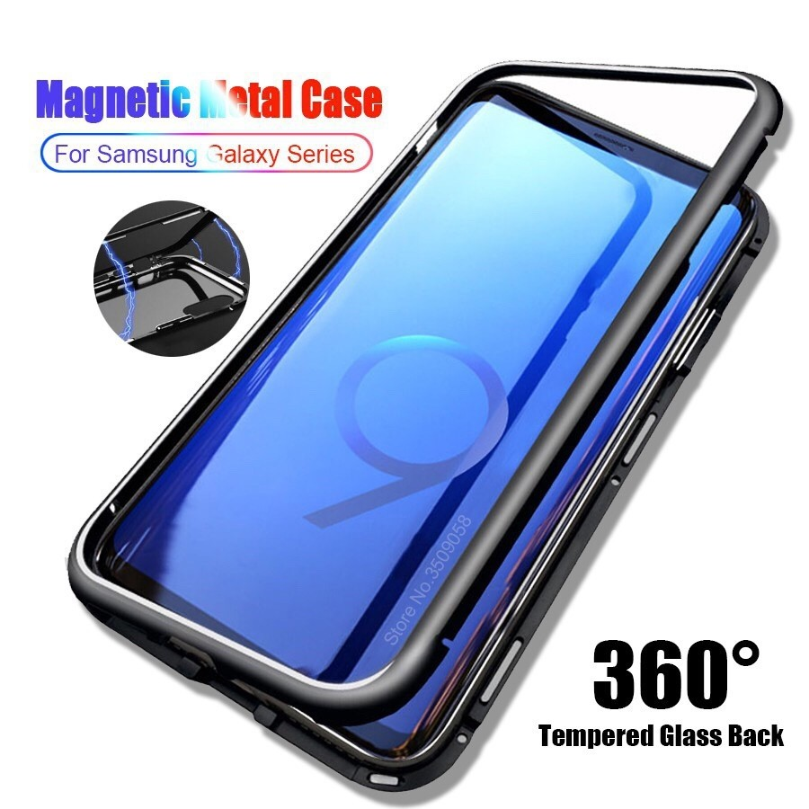 low priced 4a65d 44b75 Samsung Note 9 8 S9 S8 S7 Plus 360 Magnetic Case