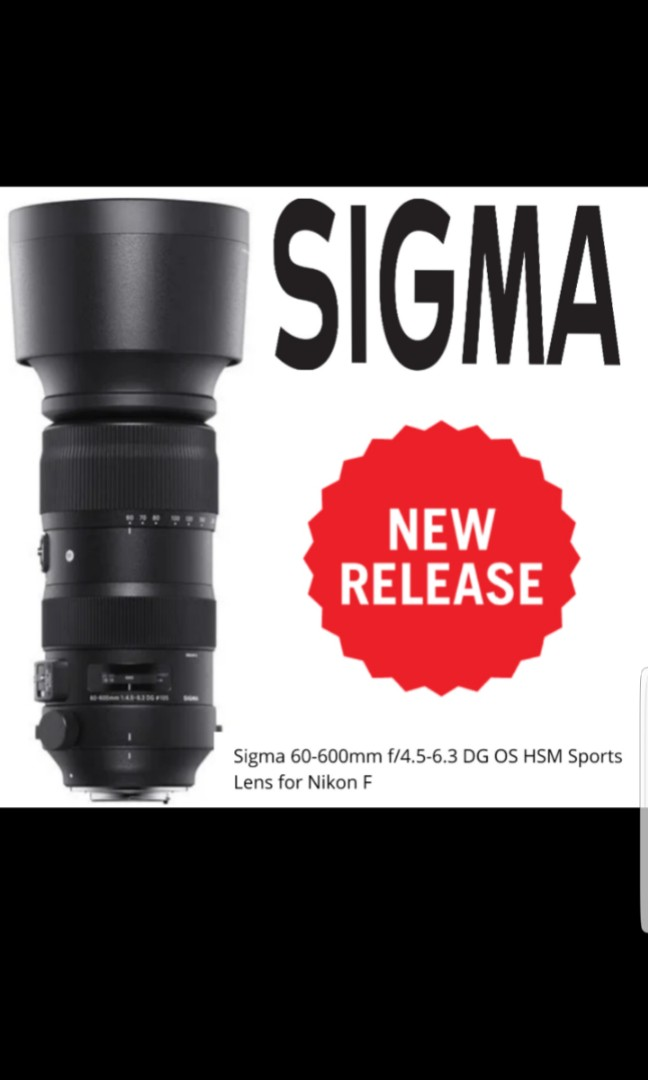 Sigma 60-600mm DG OS HSM Sports for Nikon FX Mount