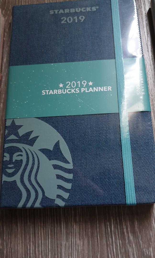 Starbuck Planner 2019 by Moleskine (Singapore Exclusive) last plain blue denim