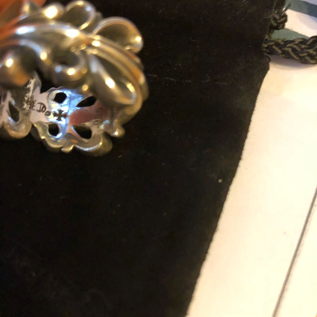 c2b65be7fc5 STEAL! Authentic Chrome Hearts Double Flora Cross Ring