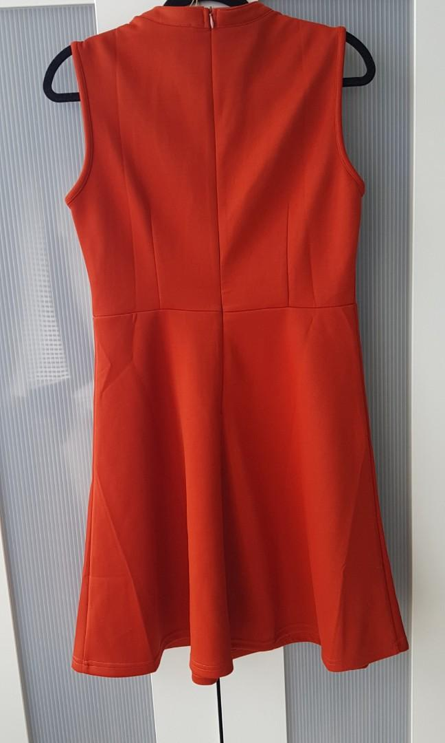 SUMMER ORANGE DRESS SIZE M BRAND NEW WITH TAG