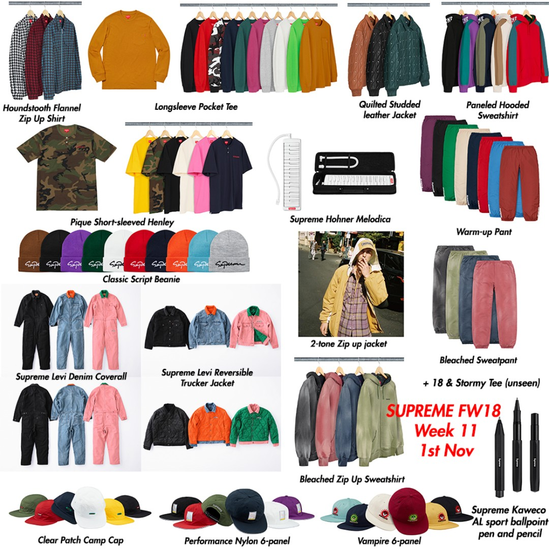 5dd224bb346 Supreme FW18 Week 11 Pre-order