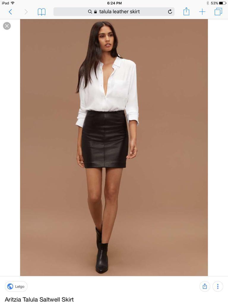 Talula leather skirt