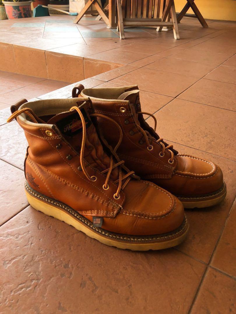 dba7467f9a8 Thorogood Moc Toe Boots US9, Men's Fashion, Footwear, Boots on Carousell