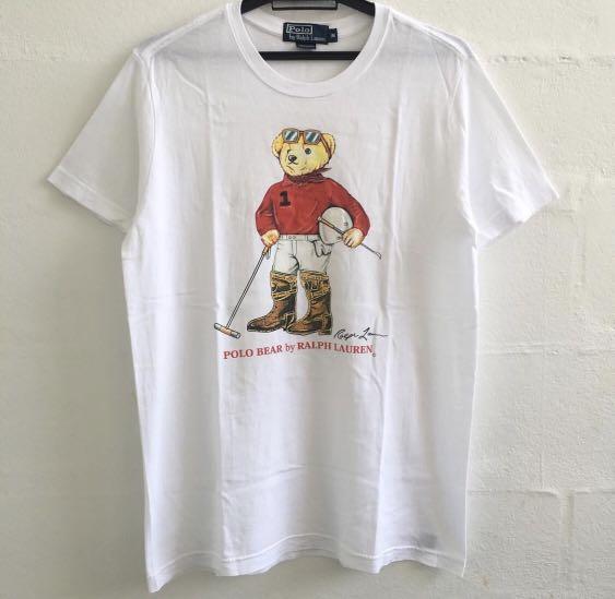 c0fd14b7b Vintage Polo Bear Tee, Men's Fashion, Clothes, Tops on Carousell