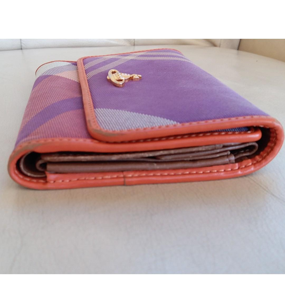 Vivienne Westwood Made in Italy Multi-colour Plaid Wallet purse