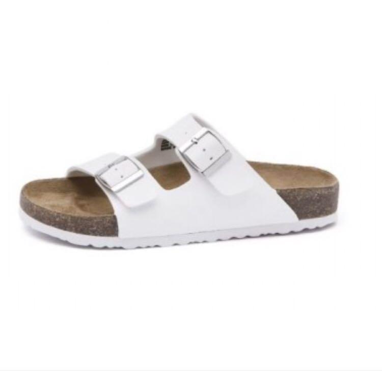 White flat sandals (same style with Birkenstock