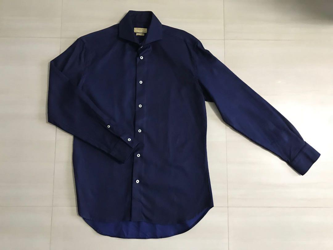 94d337b4f8 Zara Men Shirt Long Sleeves Blue Size EU38/USA14, Men's Fashion, Clothes,  Tops on Carousell