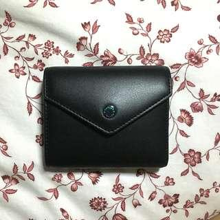 charles & keith small black envelope wallet purse simple